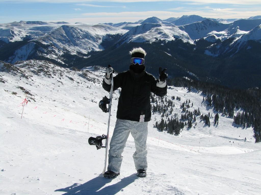 Snowboarding en Arapahoe Basin CO