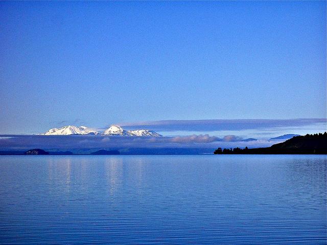 Lago Taupo en Nueva Zelanda