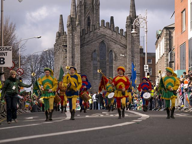 Celebración de San Patricio en Dublín Irlanda