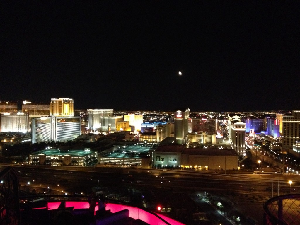 Vista de La Strip desde el Río Hotel