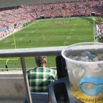Bastante calor durante el juego de futbol Americano