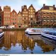 Típicos canales en Amsterdam