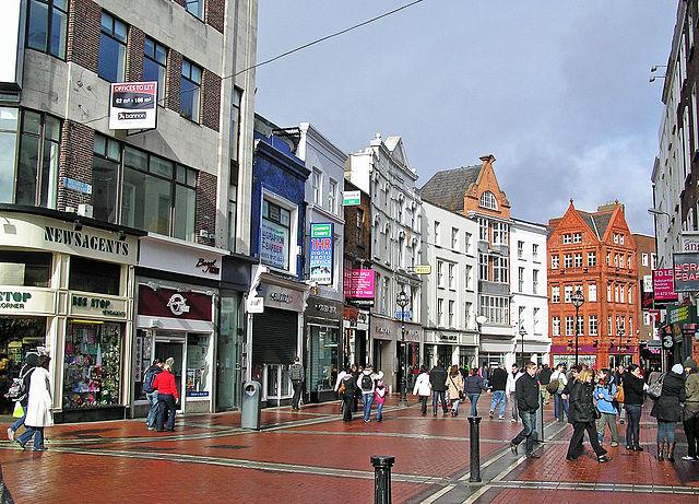 Grafton Street en Dublín Irlanda