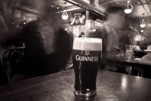 Cerveza Guinness famosa en Irlanda
