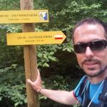 Raúl de Movimiento Líquido durante su trayecto en la Vía Francígena