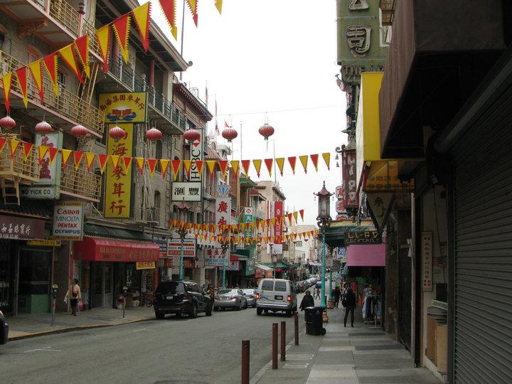 En las calles de Chinatown en San Francisco