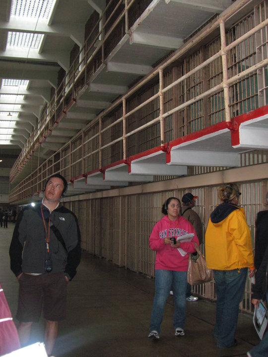 Durante el recorrido en la carcel de Alcatraz