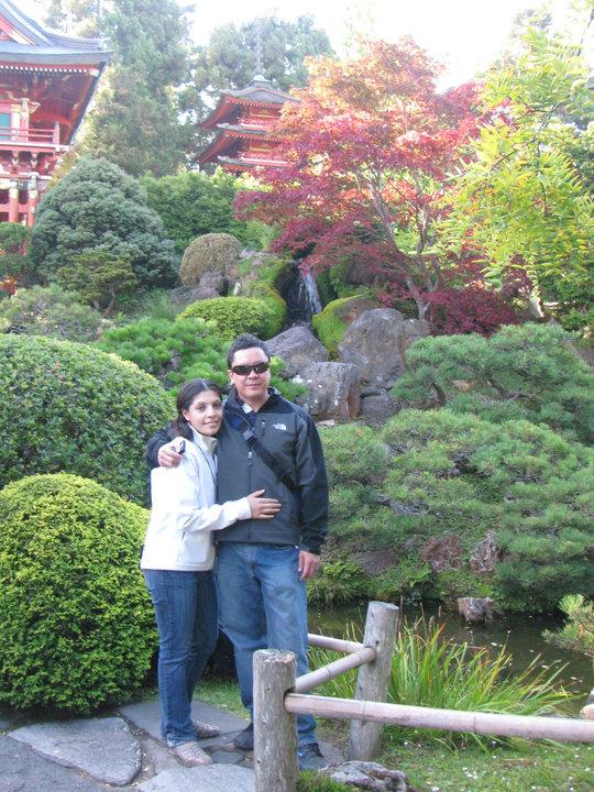 En los Jardines Japoneses
