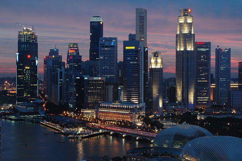 Vista de Singapur de Noche