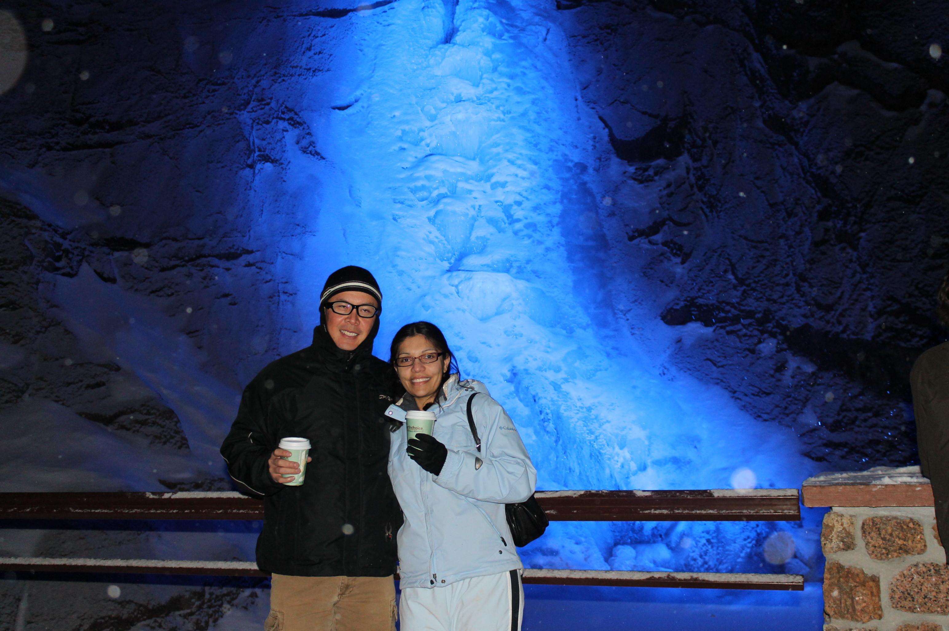 La cascada congelada en Seven Falls