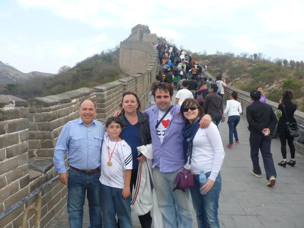Vero y Jesús en la Muralla China