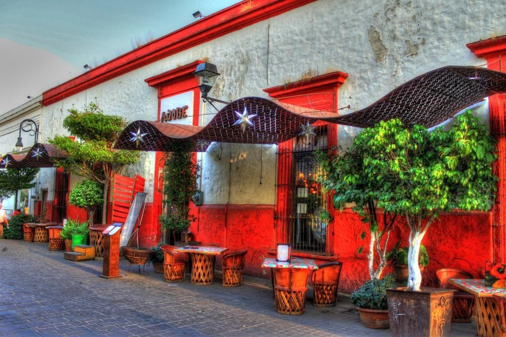 Fachada típica de las calles de Tlaquepaque