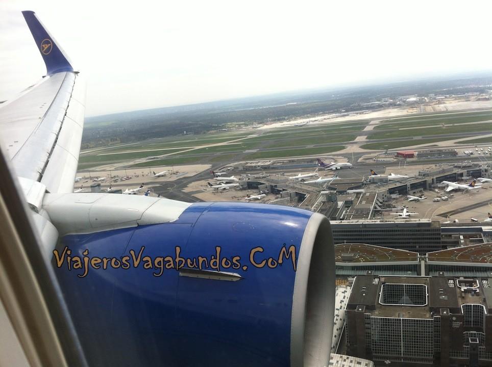 Llegando al aeropuerto de Frankfurt