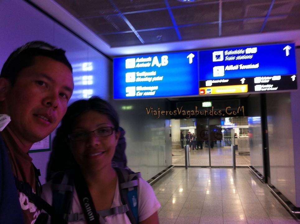 En el aeropuerto de Frankfurt