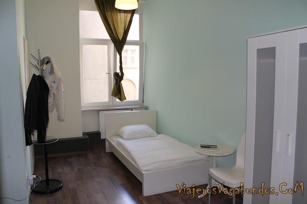 Nuestra habitación en el Frankfurt Hostel