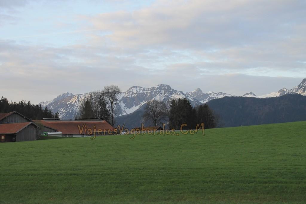Así de bonitos son los paisajes rumbo a Füssen