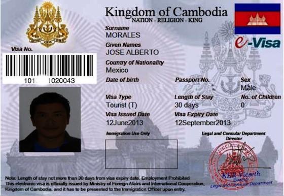 Para Camboya aplicamos por internet y en sólo 2 días obtienes la visa que imprimes tú mismo