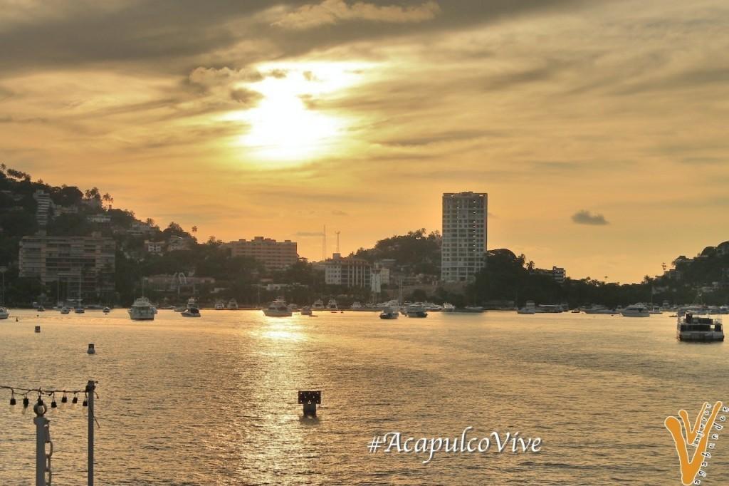 Atardecer en el Puerto de Acapulco