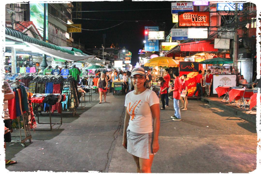 Diana en Khao San Road en Bangkok