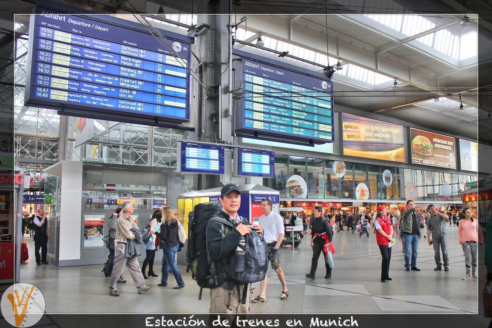 Estación de trenes en Munich