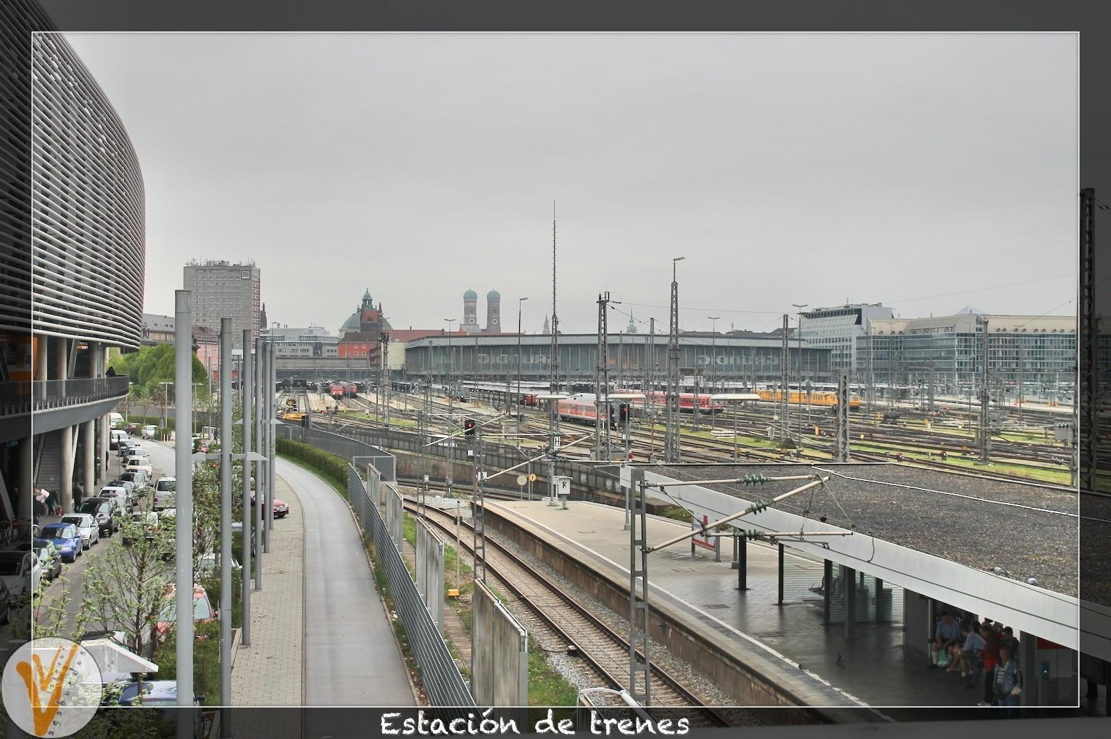 Estación de trenes desde afuera