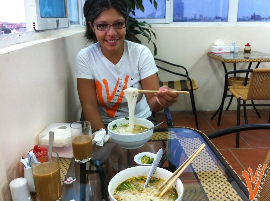 Desayuno en el hotel de Hanoi