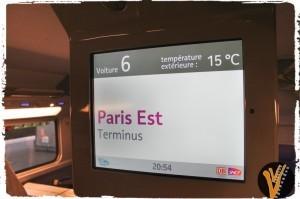 pantalla de tren a París