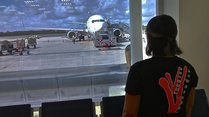aerolinea en aeropuerto