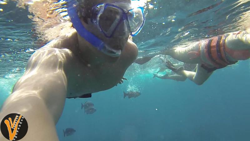 Hacer snorkel es divertido