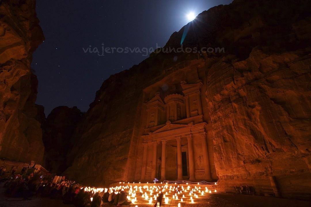 Ciudad de Petra de Noche
