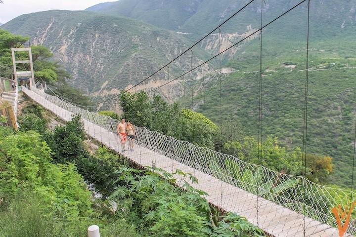 Vista espectacular del valle desde el puente