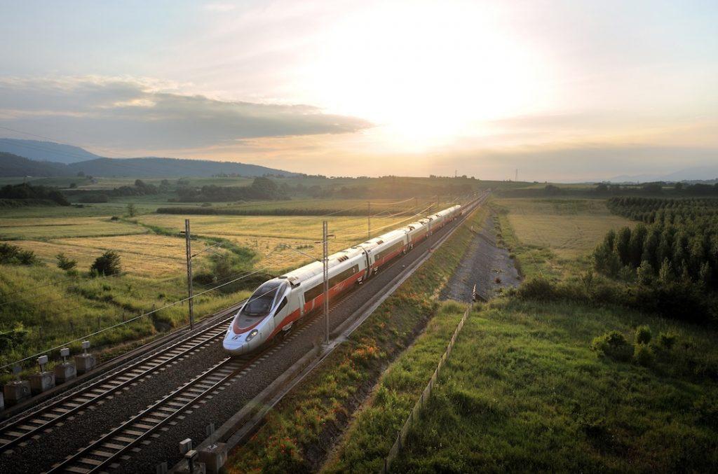 Recorrido en tren por Europa