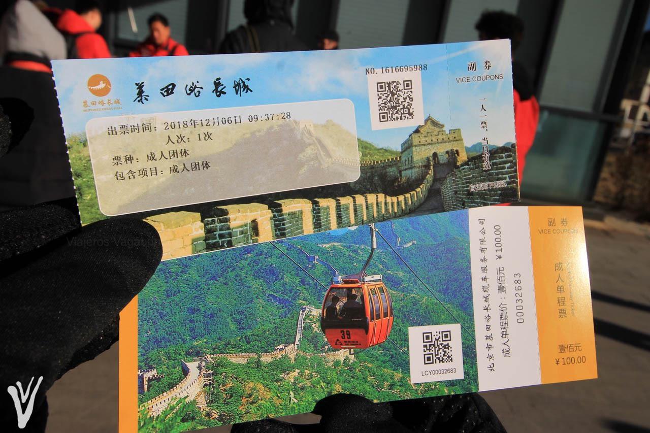 boletos de Muralla China