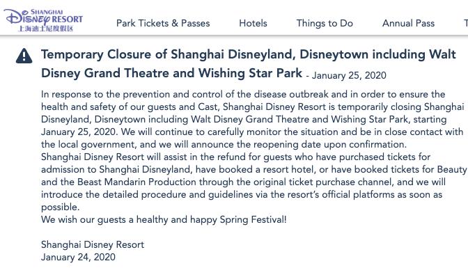 cierre de Disney Shanghai
