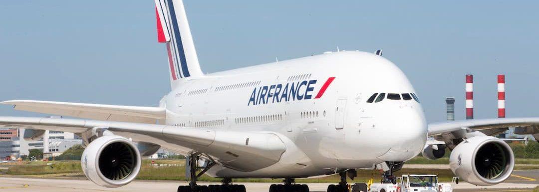 Su alteza, el A380 de Air France, se despide de CDMX