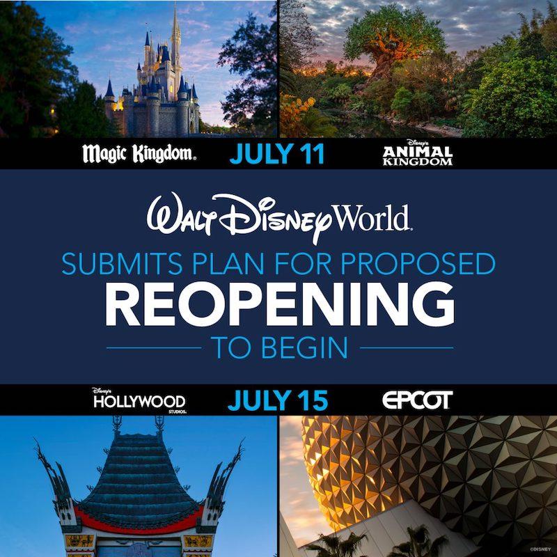 Walt Disney World espera poder reabrir Magic Kingdom y Animal Kingdom a partir del 11 de Julio, pendiente a recibir autorización por parte del gobierno.